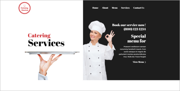 Catering Website HTML Template