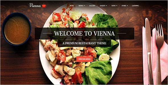 Catering Website Template Bootstrap