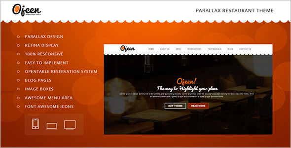 Catering Website Template WordPress