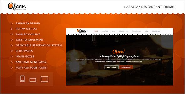 Catering Website Template WordPress