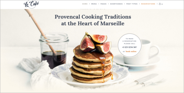 Catering Website Theme