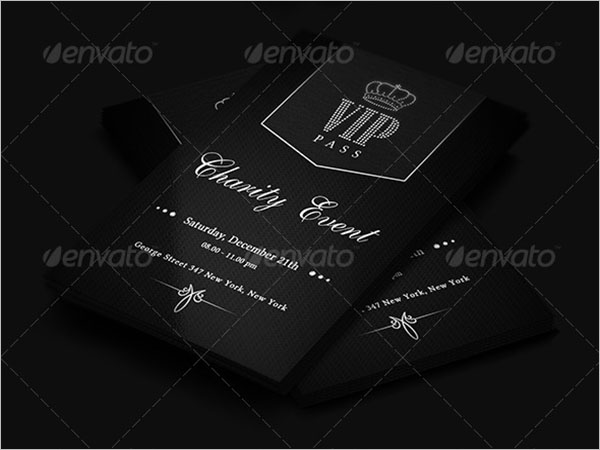 Charity Event Business Card Template