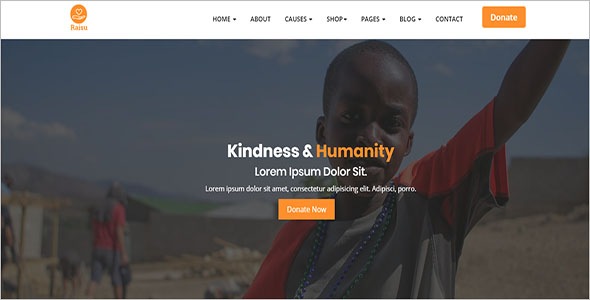Charity & Fundraising Bootstrap Template