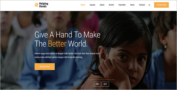 Charity Organization Bootstrap Template
