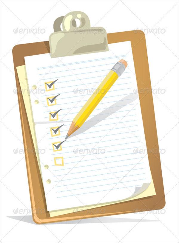 Checklist Clipboard Template