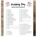Checklist Template For Wedding