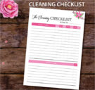 Checklist Template ForWeekly Cleaning