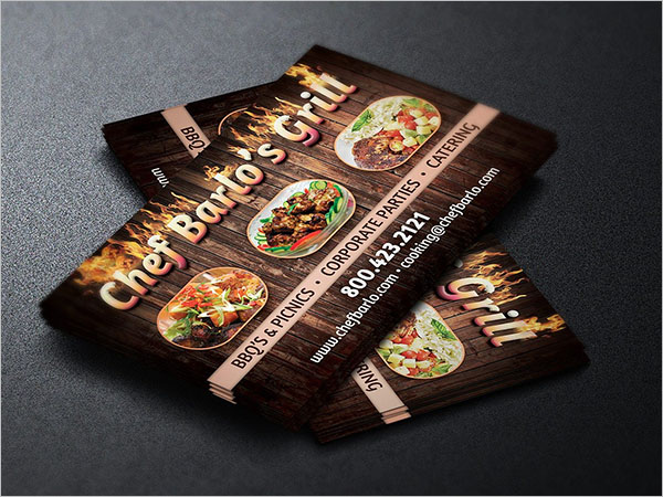 Chef Catering Service Business Card Design