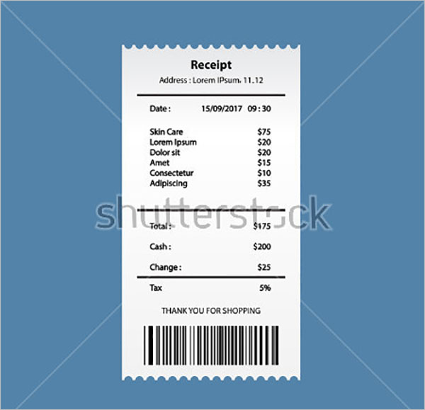 Child Care Tax Receipt Template