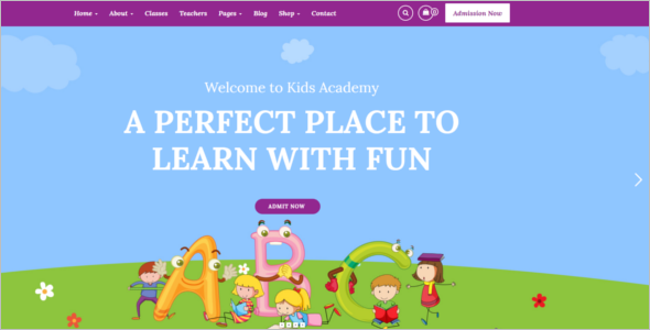 Child Care Website Template