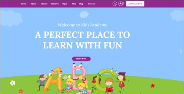 Child Care Website Template