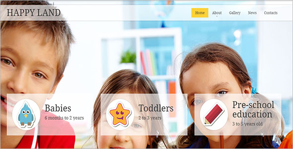 Child Responsive Website Template