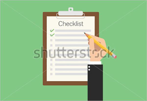 Clean Checklist Template