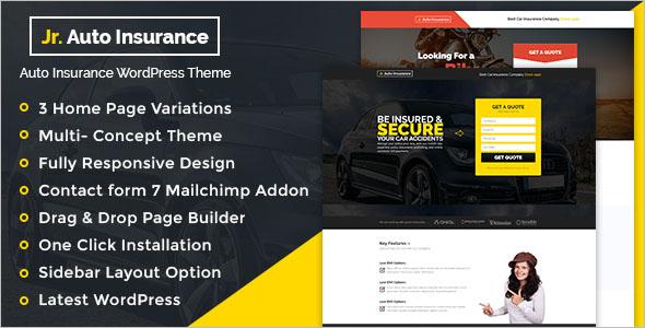 Clean Insurance WordPress Theme