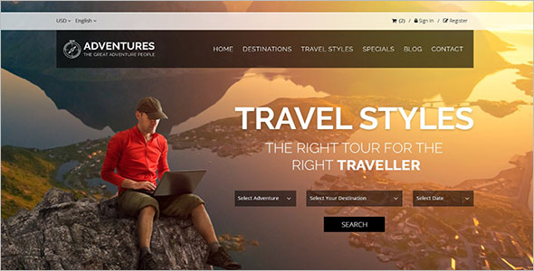 Clean Travel HTML Template