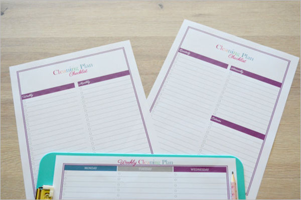 Cleaning Plan Checklist Template