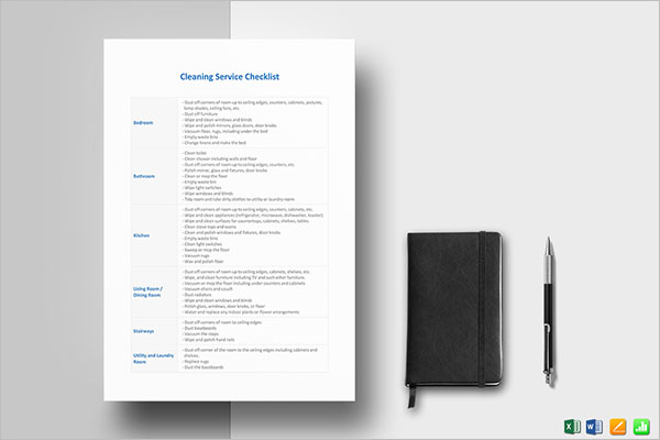 Cleaning Services Checklist Template