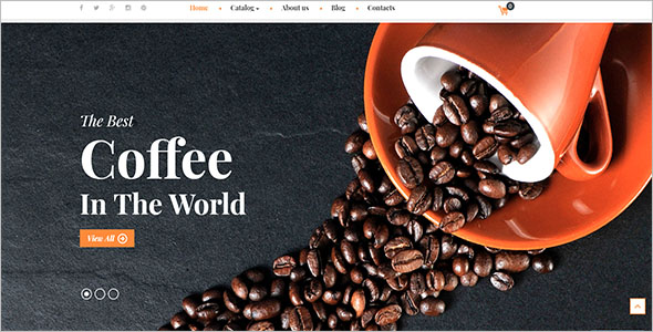 Coffee & Restaurant VirtueMart Theme