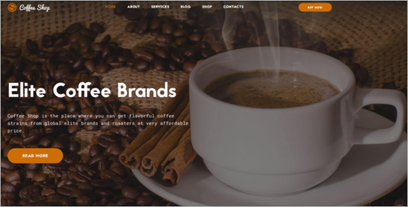 Coffee Shop Website Theme
