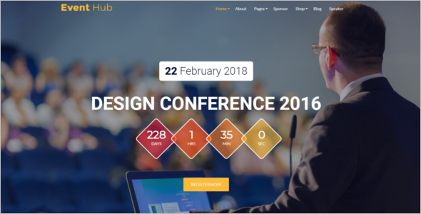 College Event Management Website Theme