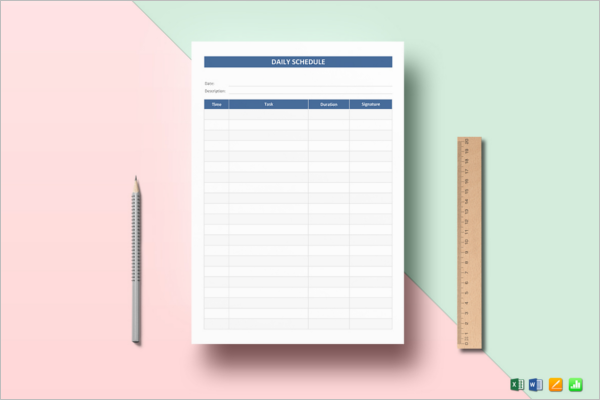 College Homework Planner Template