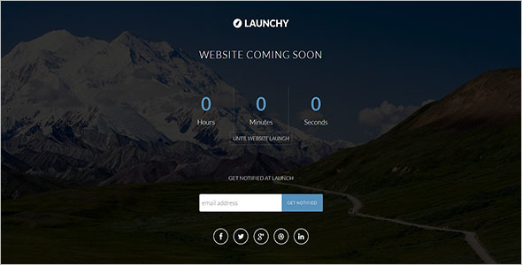 Coming Soon Static HTML Template