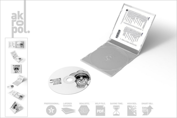 Compact Disc Case Template