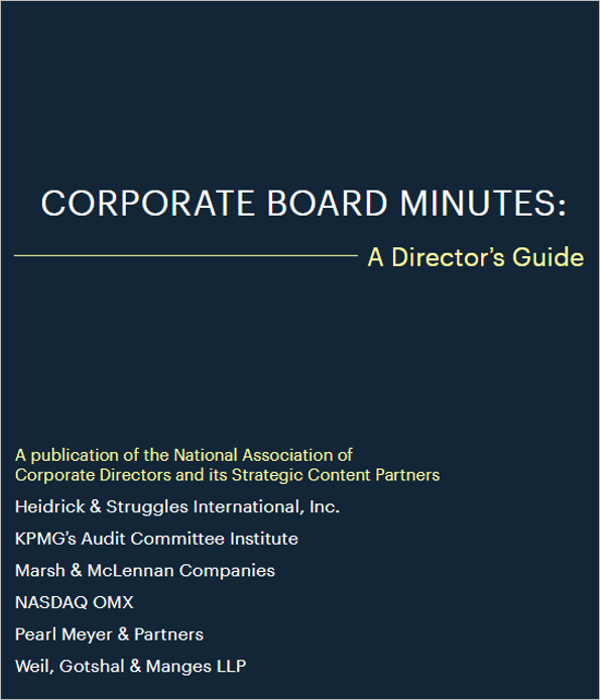 Company Meeting Corporate Minutes Template