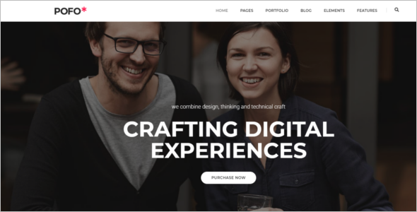 Company Portfolio WordPress Theme