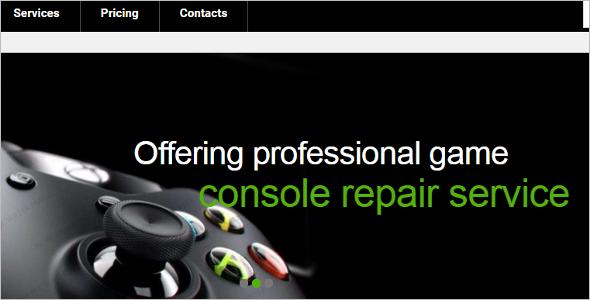 Computer Repair Flash Website Template