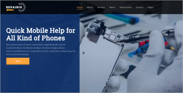 Computer Repair Responsive Website Template