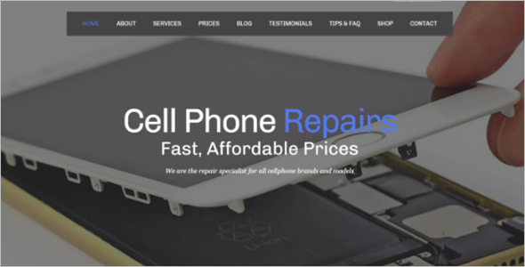 Computer Repair Shop Website Template
