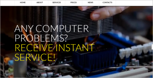 Computer Repair Website Template WordPress