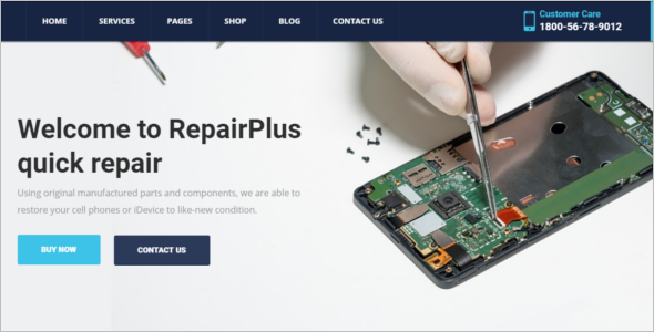 Computer Software Repair Website Template