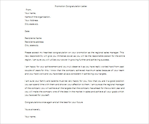 Congratulations letter for job promotion congratulations letter for job promotion spiritdancerdesigns Image collections