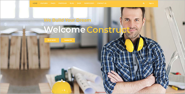 Construction Business Drupal 8 Theme