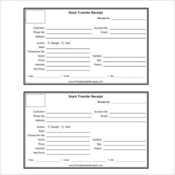 Construction Company Receipt Template