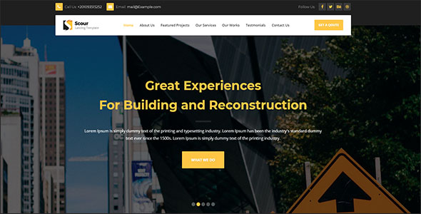 Construction HTML Page Template