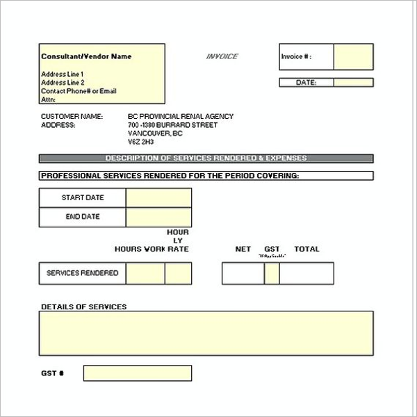 Construction Receipt Template PDF