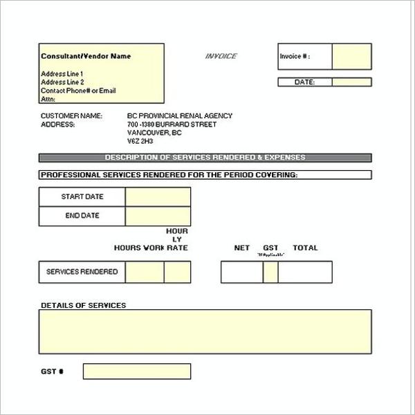 Construction Receipt Template PDF