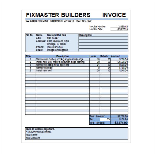 Contractor Receipt Of Payment