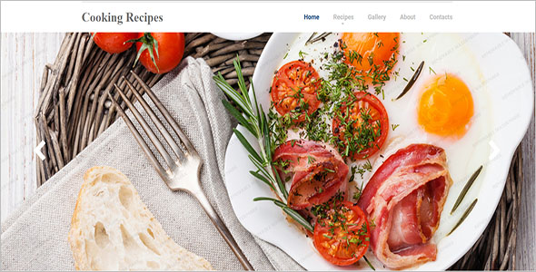 Cooking Club Website Template