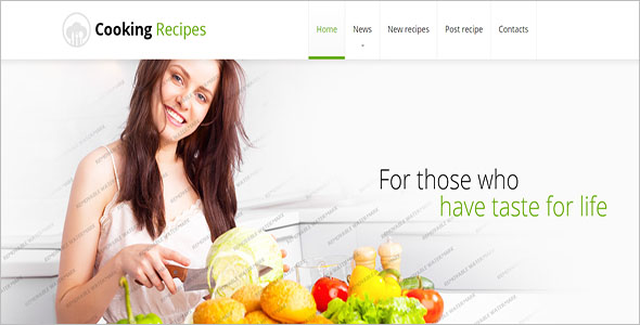Cooking Recipes Website Template