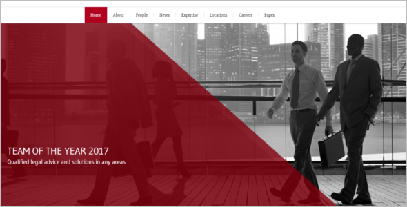 Corporate Law Firm Website Template