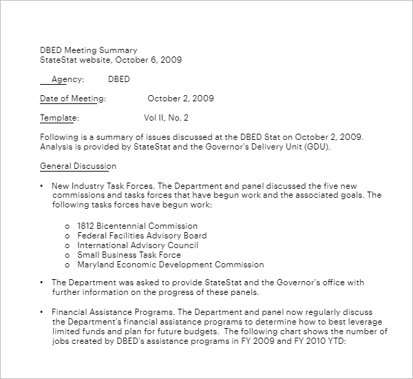 Corporate Meeting Minutes Doc Template