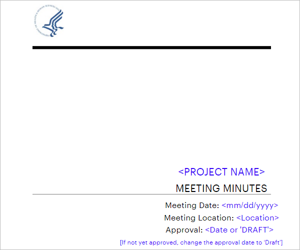 Corporate Meeting Minutes Word Template