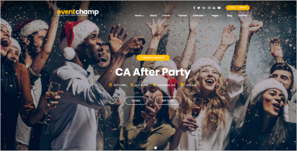 Creative Event Management Website Template