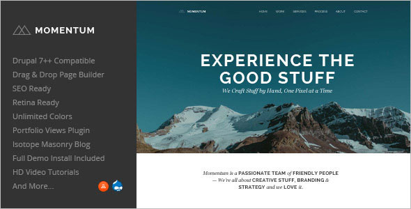 Creative One Page Drupal Theme