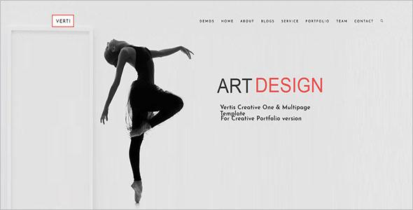Creative OnePage Drupal 8 Theme