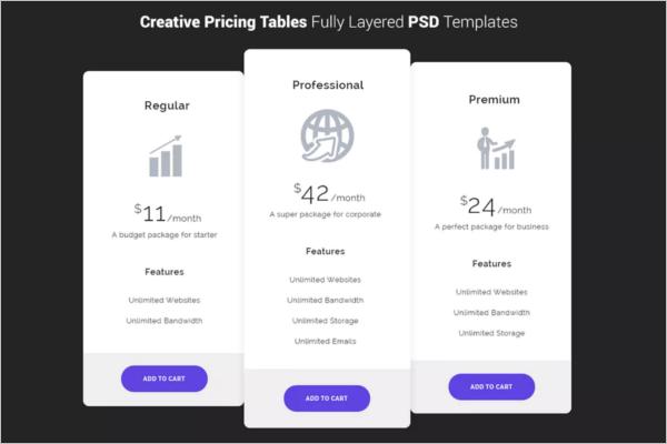 Creative Price List Template